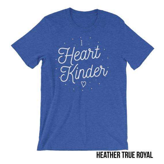 K-6 Teacher Shirt| I Heart Kindergarten, First Grade, Second Grade, etc. | Elementary Grade Level Shirt| School Spirit Shirt