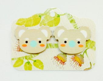 earrings studs koalas