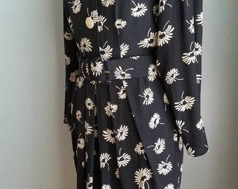 vintage floral rayon dress