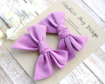 pigtail bows, purple bows, bow, pigtail set, purple pigtail bows, pigtail bow sets, bow clips, bows for girls, baby bows,