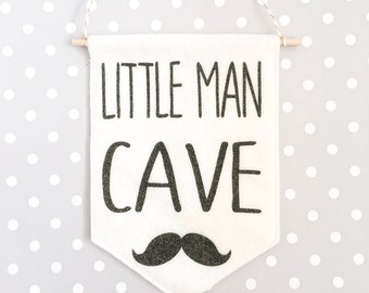 Little man cave sign, man cave sign, little man, nursery decor, wall hanging, kids teepee, kids wall decor. Bedroom dorr sign, new baby gift