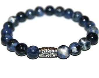 Sodalite Bracelet Bracelet Healing Bracelet for Men Bracelet Homme Healing Crystal Jewelry Mala Bracelet Men Bracelet Gemstone Bracelet