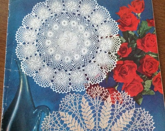 Doilies, ruffled doilies, knitted doilies, Irish crochet doilies, hairpin lace doilies, Rose of Erin doily, Pine Cone knitted lace doily