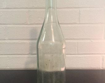Vintage Tall Glass Bottle/Liquor Bottle/Clear Glass Bottle