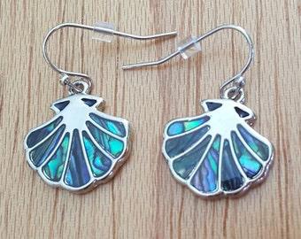Abalone Shell Earrings, Shell Earrings, Seashell Earrings, Ocean Earrings, Seaside Earrings, Natural Abalone, Shell Jewelry, Sea Earrings