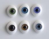 BJD oval eyes - Glass - 6-8mm