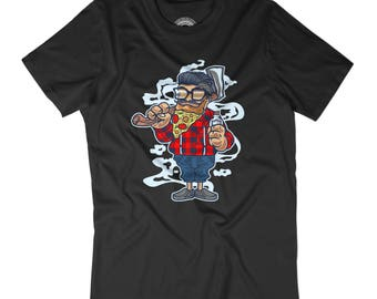 RANDOM SHIRT Lumberjack shirt Funny husband gift Pizza shirt Great beard Hipster shirt Cartoon art shirt Beautiful mens shirt APV43