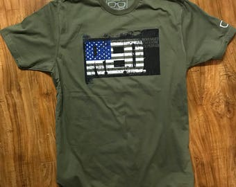 R.E.D. (Remember Everyone Deployed) graphic tee