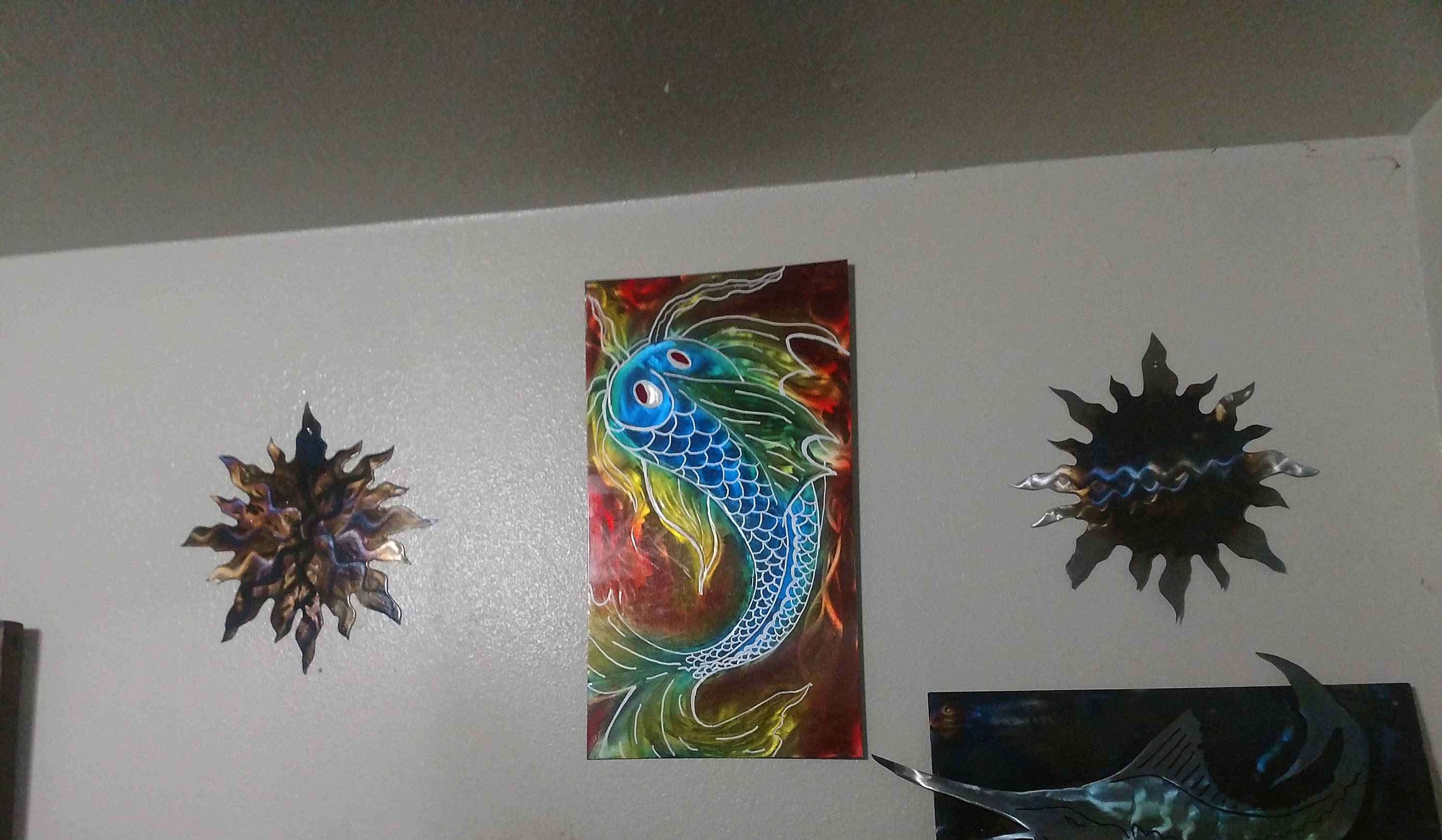 up jean decor large to ceramic ohl wall domestic the best markings fish art and throughout date sculpture most