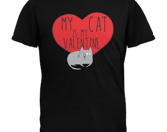 Valentine's Day - My Cat Is My Valentine Mens T-Shirt