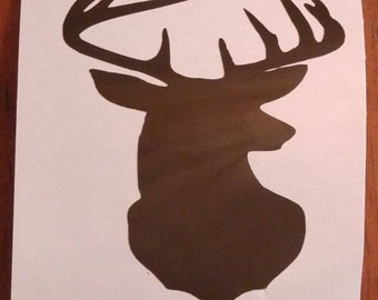 Deer Buck Decal - permanent vinyl - gift ideas for hunters on Yeti & Rtic cups, coolers, man cave decor etc. Father's day gift idea!