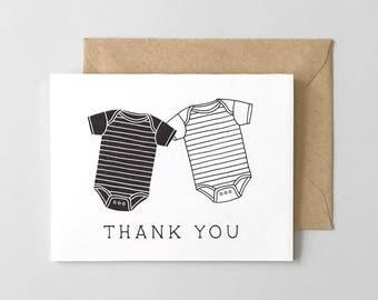 Onesies Letterpress Thank You Card