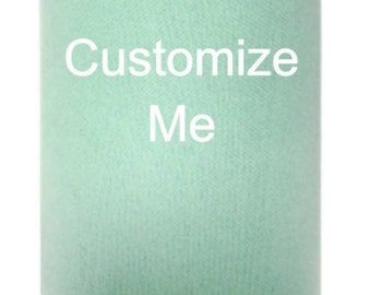 Personalized Custom Can Cooler, Beverage Insulator Party Favors, Birthday Favors, Christmas Favors, Weddings Favors  in Mint & other Colors