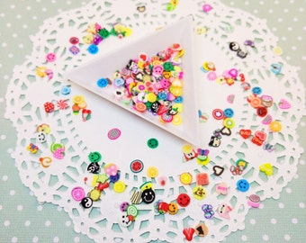 100pc Assorted Fimo Slices Kawaii Polymer Clay Nail Art Deco Cabochon Decoden Craft DIY