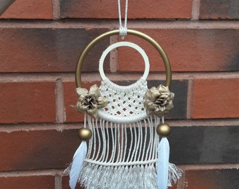 Gold flower wall hanging