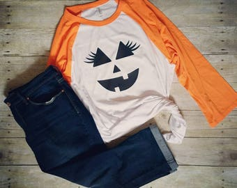 Womens Halloween Shirt, Jack O Lantern Shirt, Halloween Graphic Tee, Ladies Halloween Shirt, Cute Halloween Shirt