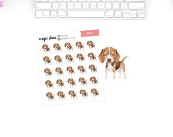 Beagle Planner Stickers | 25 Dog Stickers for ANY Planner