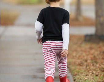 baby sweatpants - toddler sweatpants - jogging outfit - baby sweats - red stripe  - ready to ship