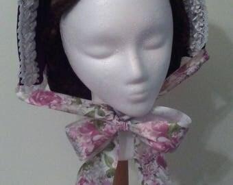 Brown Velvet Marie Stuart Victorian (Sweetheart) Bonnet