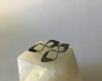 Minimalist Silver Twist Earrings