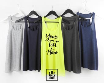 Custom Bachelorette Tank Top, Custom Tank Top, Custom Text Tank, Personalized Tank, Any Color, Any Text, Create Your Own Tank