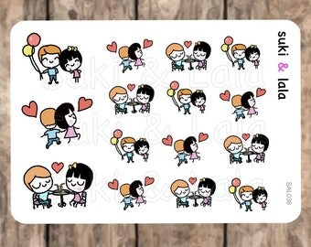 DATE NIGHT Planner Stickers, DATE Planner Stickers, Dinner Date Planner Stickers, Love Planner Stickers, Planner stickers (SAL036)
