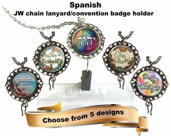 JW Spanish gifts/JW lanyard convention badge holder/jw gifts/JW.org/jw accessories/jw convention gift/jw stuff/jw baptism/jw pioneer gift