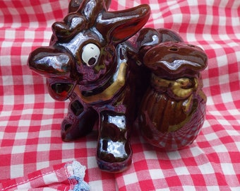 Vintage Donkey with Saddle Bags Salt & Pepper Shakers