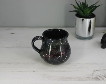 Galaxy Mug, Hand Painted Ceramic, Astronomy cup, Cosmic Mug, Tea Lover mug, Luxury Coffee Mug, Unique Gift, Glazed item, Star Universe Mug
