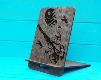 Docking Station Natural+Star Wars Docking+Personalized Docking Stand+Wooden Stand+Gift For Him+Wood Phone Dock+Iphone docking+Personalised