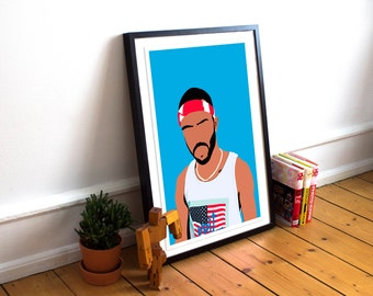 Frank Ocean Poster / Hip Hop Poster / Minimalist Poster / Music Poster / Frank Ocean Blond / Frank Ocean Print / Rap Poster / Hip Hop Poster