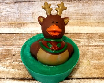 Reindeer Soap | Rubber Ducky Soap | Rubber Duck | Toddler Gift Ideas | Christmas Soap | Stocking Stuffers | Christmas Gifts for kids | toy