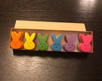 Easter Bunny Peep Crayon Gift Set- Easter basket gift- Easter present-
