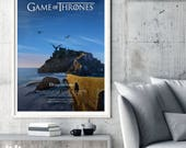 Game of Thrones Poster, TV Poster Art Print, TV Poster, Wall Art, Dragonstone Poster, Game of Thrones Season 7