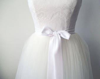 White sash, bridesmaid sash, chiffon sash, bridal sash, long sash, narrow sash, dress sashes, bridesmaid sashes, party sash, dress sash