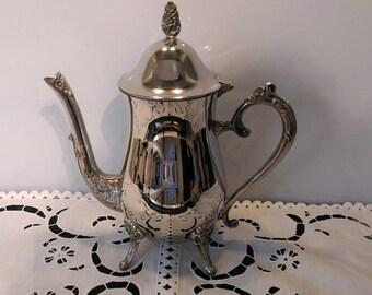 Elegant Vintage Silver Plate Teapot ~ Coffee Pot ~ Tea Party ~ Vintage Wedding ~ A Timeless Classic!