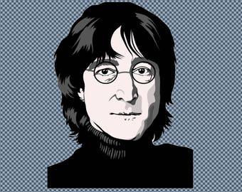 Embroidery John Lennon The Beatles