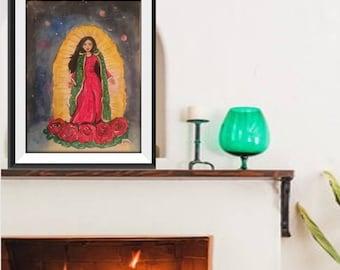 La Reyna de Mexico - Original Painting 12x18