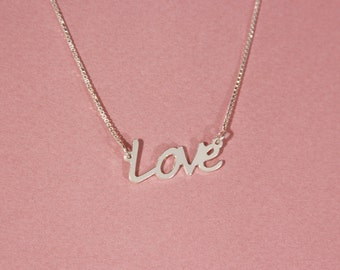 Love necklace Couples necklace Lovers necklace Necklace for couples Love pendant necklace Name necklace Personalized Necklace Name