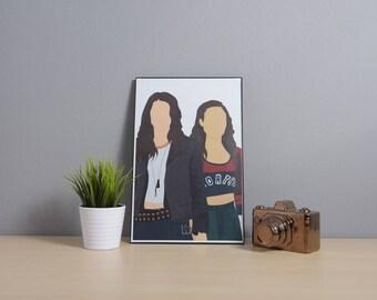 Earp Sisters (Wynonna Earp + Waverly Earp) [ Wynonna Earp] | Digital Art | 11x17 Poster