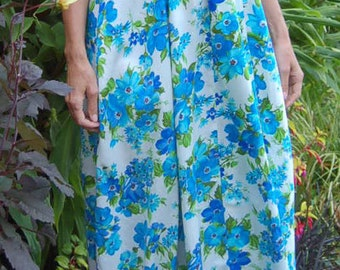 Vintage dress, vintage maxi dress, 60s maxi dress, floral vintage dress, maxi dress