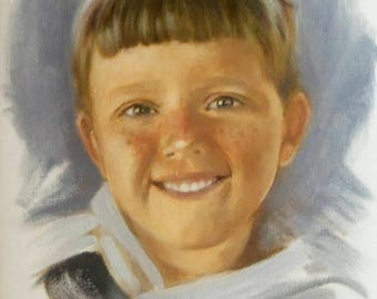 9 X 12 Custom Hand Painted Oil Portrait Painted From Your Photo