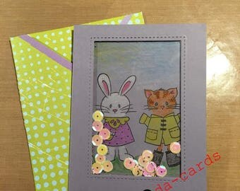 With Love Greeting card with matching envelope