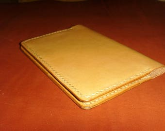 Leather passport holder made of genuine leather