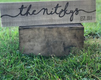 Family Name Est. Reclaimed Wood sign