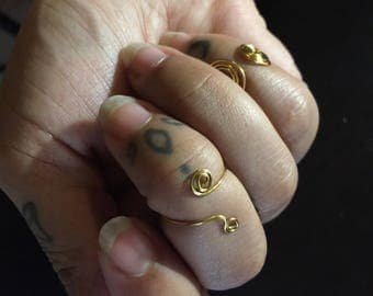 3 Gold Plated Midi Rings