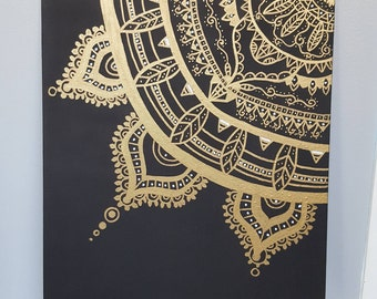 11x14 Mandala Canvas