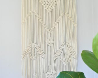 Havasu Falls Driftwood + 100% cotton, Macrame Wall Hanging, modern macrame, custom wall hanging