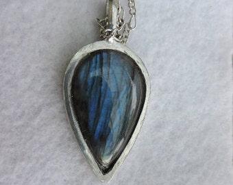 Necklace with Labradorite gemstone pendant