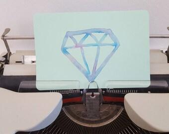 Postcard with diamond design